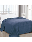 Frazada Brescia Flannel Melange Azul Twin